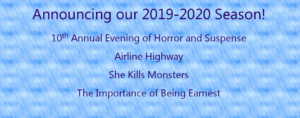 Announcing Our 2019-2020 Season!