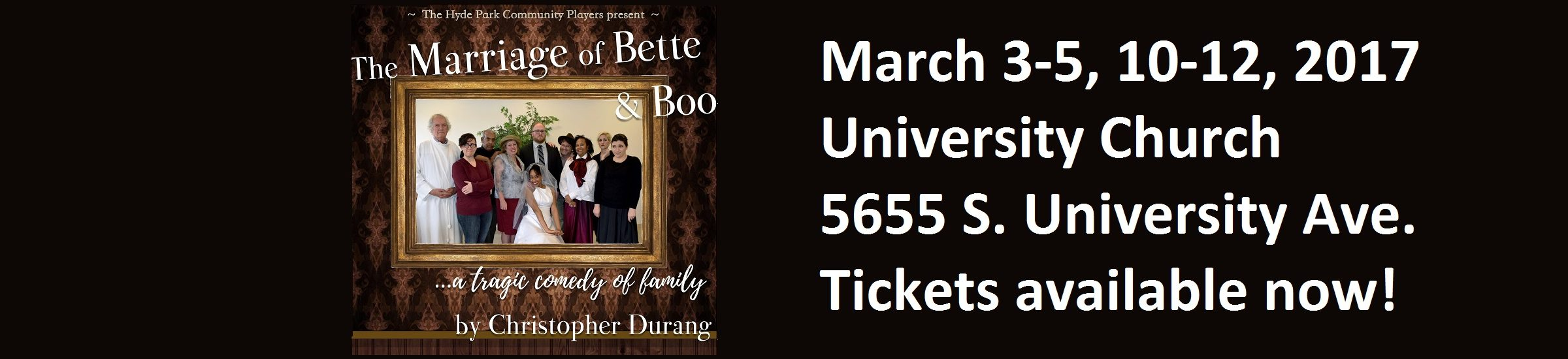 """""""The Marriage of Bette and Boo"""" by Christopher Durang (March 3-12, 2017)"""