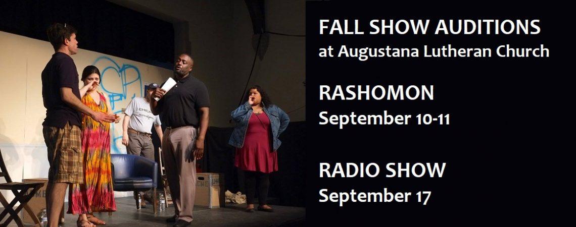 Auditions: An Evening of Horror & Suspense (9/17), Rashomon (9/10-11)