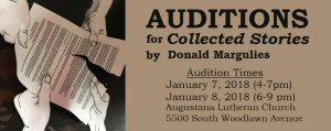 AUDITIONS for Collected Stories by Donald Margulies