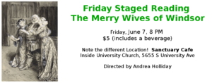 Friday Staged Reading: The Merry Wives of Windsor