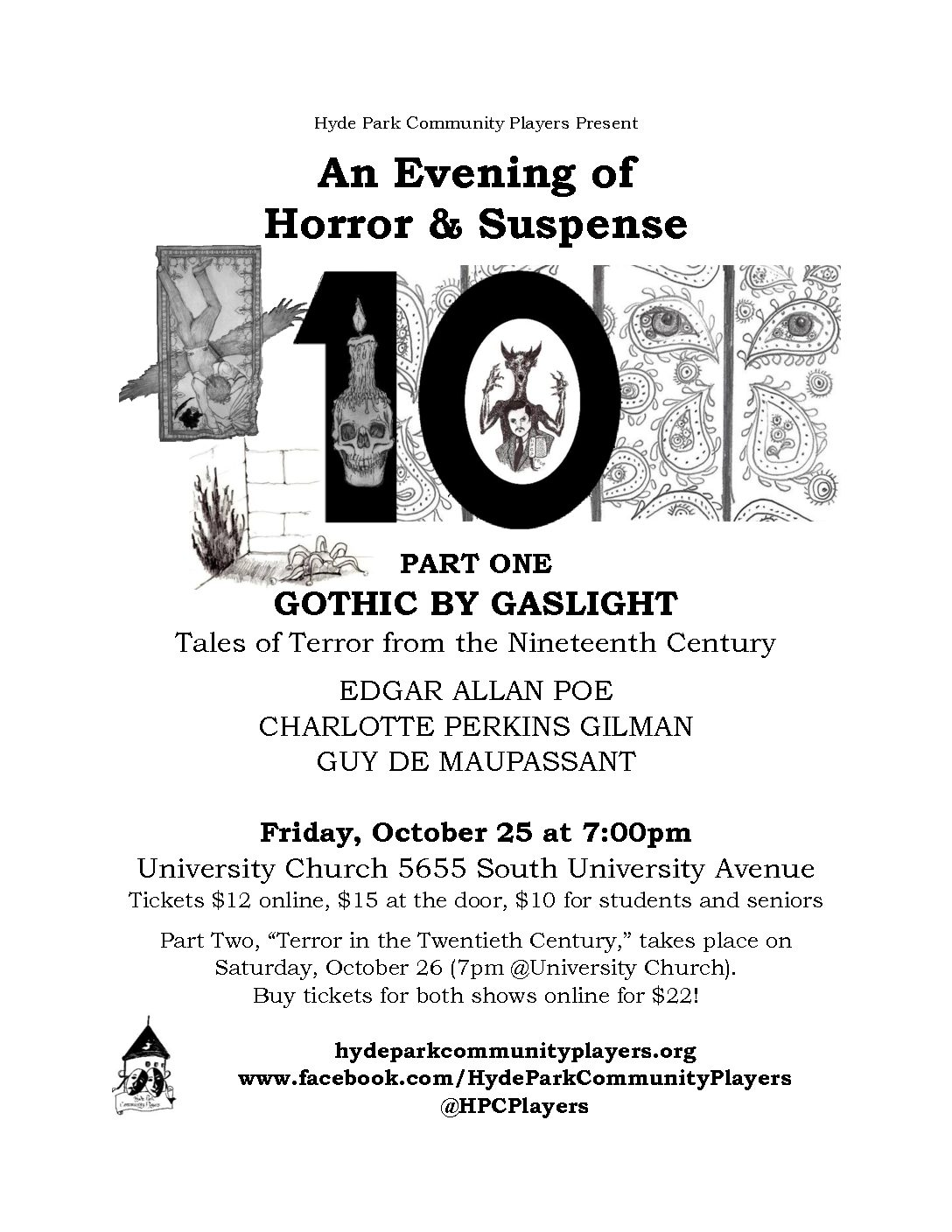 An Evening of Horror & Suspense, Part One: GOTHIC BY GASLIGHT