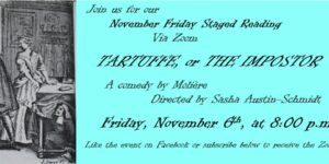 Friday Staged Reading: Molière's Tartuffe
