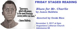 FRIDAY STAGED READING: Blues for Mr. Charlie by James Baldwin