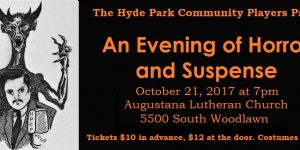 Our Eighth Annual Evening of HORROR and SUSPENSE!