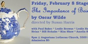 FRIDAY STAGED READING: The Importance of Being Earnest by Oscar Wilde