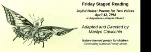Friday Staged Reading Series:  Joyful Noise