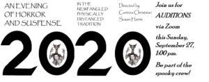Evening of Horror & Suspense 2020: Auditions