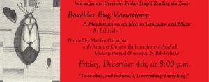 Friday Staged Reading – Boxelder Bug Variations by Bill Holm
