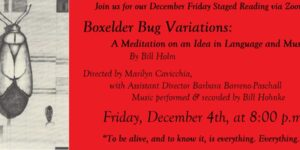 Friday Staged Reading – Boxelder Bug Variations by Bill Holm