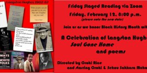 February Friday Staged Reading:  A Celebration of Langston Hughes