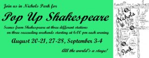 Pop-Up Shakespeare in Nichols Park